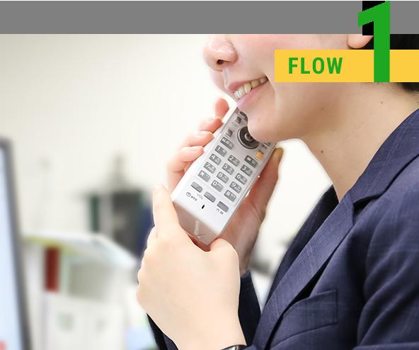 1.まずはお問い合わせフォーム、もしくはお電話にてご連絡ください。